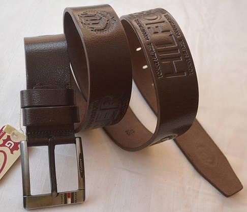 Кожаный мужской ремень Tommy Hilfiger (копия), фото 3