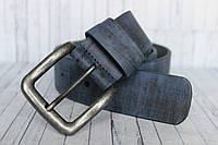 """Стильный качественный мужской ремень кожаный синий 4 см """"NEW"""