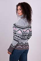 Женский теплый вязаный свитер Слойка(светло-серый, розовый, капучино, черный), фото 2