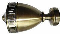 """Наконечник """"Афина (ЕМ 265)"""" для карнизов диаметром 28 мм"""
