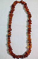 Бусы натуральный цельный природный янтарь 10-15 мм вес 60-65г