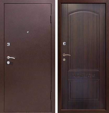 Уличные металлические входные двери Каприз металл/МДФ в дом, фото 2