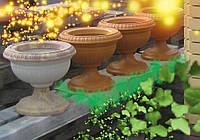 Ваза бетонная уличная горшок на цветник, как вазон цементное кашпо, клумба садовая цветочница СБОРНАЯ.