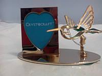 """Фоторамка Птица  Позолоченные изделия """"Crystocraft"""""""