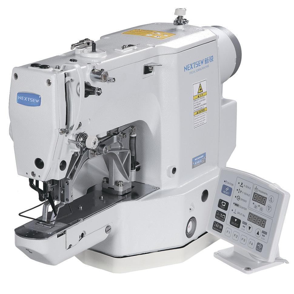 Nextsew NS-430D-01, компьютерная закрепочная машина, рабочее поле 40 x 30 мм, для легких и средних материалов