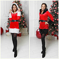 Новогоднее платье Снегурочка Санта Клауса, фото 1