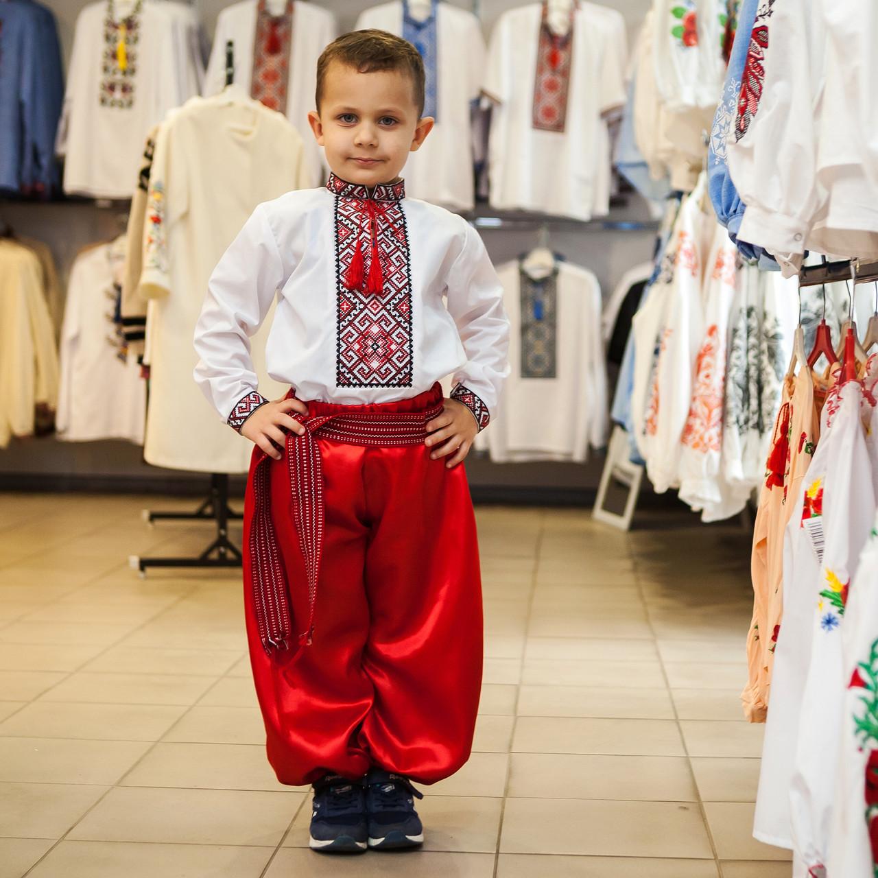 Шаровары для мальчика красные
