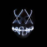 Світна маска на Хелловін з хрестами на очах