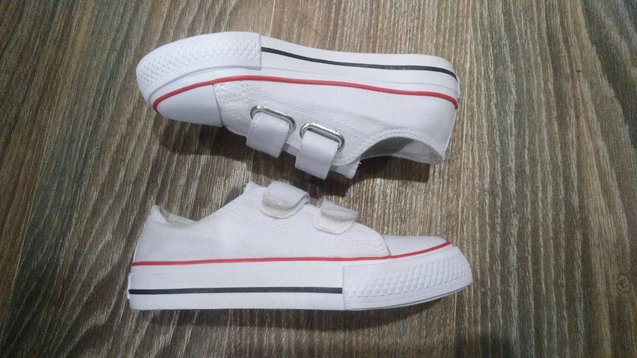 26, 27, 28 рр Детские и подростковые кеды конверсы AIL STAR в стиле Converse белые на липучке