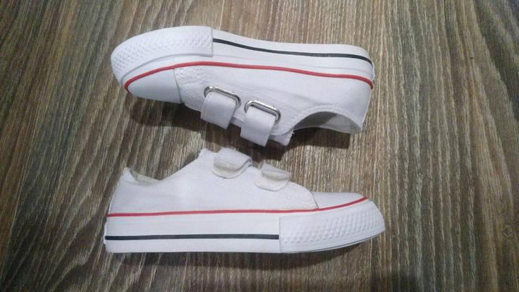 26, 27, 28 рр Детские и подростковые кеды конверсы AIL STAR в стиле Converse белые на липучке, фото 2