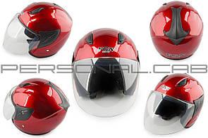 Шлем открытый   (mod:522) (size:L, красный)   FGN