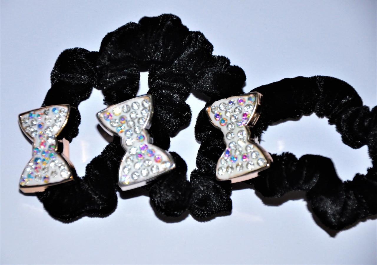 Резинка для волос - бантик (10 шт)