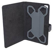 """Чехол-подставка для планшета универсальная 7' (крепление """"бабочка"""") камера слева, чёрный"""