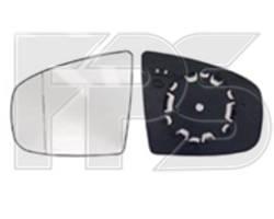 Вкладыш зеркала правого с обогревом асферический голубое 4 PIN BMW X5 06-10 (пр-во FPS)