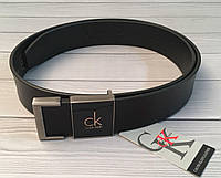 Кожаный ремень CK в коробке | натуральная кожа | оригинальная бирка