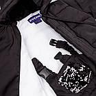 Детский зимний комбинезон Пусик Гномик с пайетками 92-104 см (1-2, 2-3, 3-4 года) (Черный), фото 4