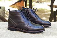 Мужские высокие туфли зимние, ТОП качество, фото 1