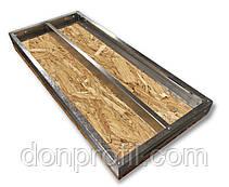 Полку ОСБ у металевому каркасі стелажна для гаража, підвалу, кладовки 1250 / 500