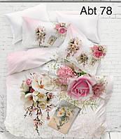 """Комплект постельного белья ALTINBASAK Сатин 3D """"abt 78"""" Евро"""