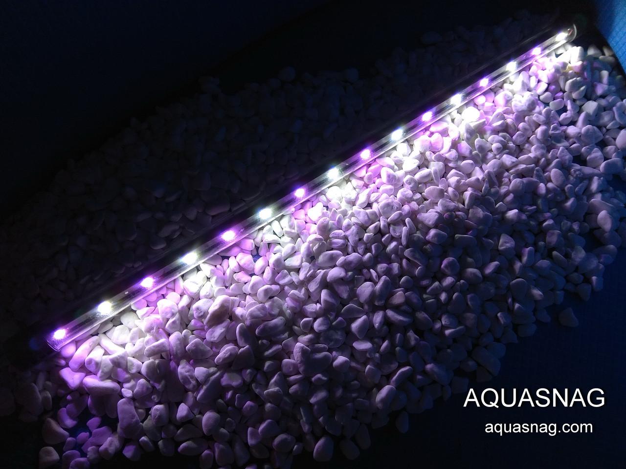 Подводная светодиодная  лампа 60 LED, розовая с белым