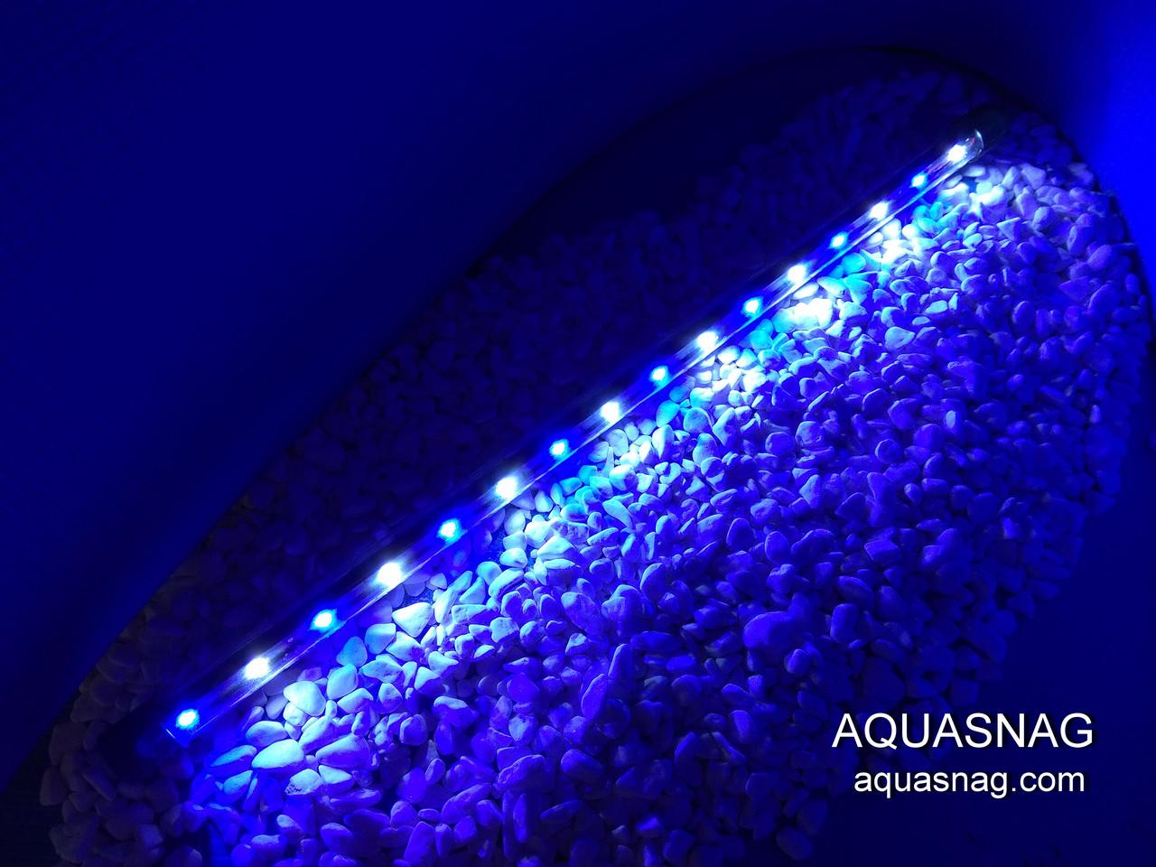 Подводная светодиодная  лампа 80 LED, голубая с белым