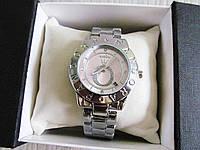 Часы  наручные женские часы серебро+розовый циферблат , фото 1