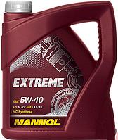 Автомобильное моторное масло Mannol Extreme 5w-40