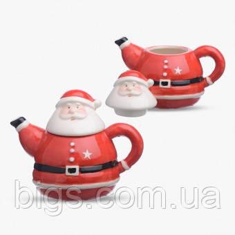 Заварочный чайник новогодний Дед Мороз ( заварник для чая санта )