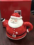 Заварочный чайник новогодний Дед Мороз ( заварник для чая санта ), фото 2