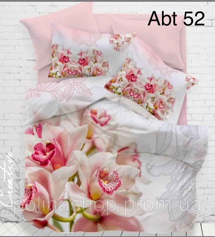Комплект постельного белья ALTINBASAK Сатин 3D abt 52 Евро  - купить со скидкой
