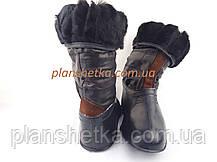 Валенки кожаные натуральный мех, фото 2