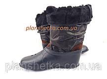 Валенки кожаные натуральный мех, фото 3