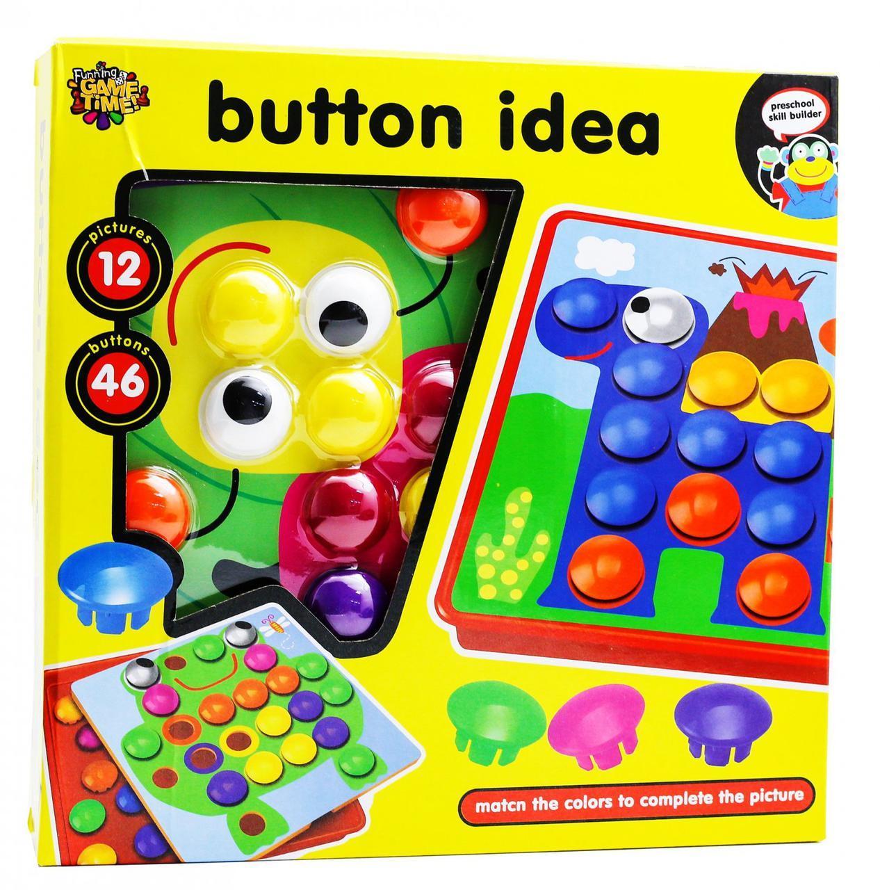 Мозаика для малышей Button Idea 3567 крупные вкладыши 12 картинок
