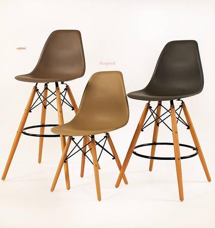 Барный стул пластиковый мега стильный серый Nik Bar для баров, кафе, ресторанов, стильных квартир, фото 2