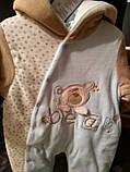 Велюровий комбінезон бавовняний для малюка, фото 6