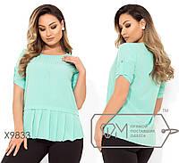 Красивая женская блуза ,батал р. 48, 50, 52, 54, 56  Фабрика Моды XL