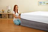 Двуспальная надувная кровать Intex 64418 с электрическим насосом, 56 см высотой, фото 2