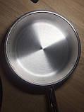 Сковорода нержавейка 32 см, фото 7