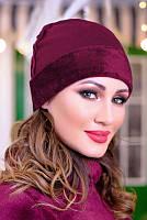 Женская  шапка на Меху