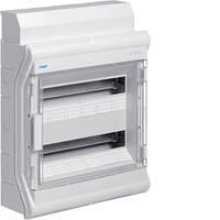 VE218DN Щит распределительный на 36 (40) мод., накладного монтажа з прозрачной дверцей, IP65, VECTOR (Hager)