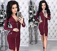 58ce4828d767f52 Женское облегающее платье на молнии из стрейч-джинс с эффектом утяжки 42-44,