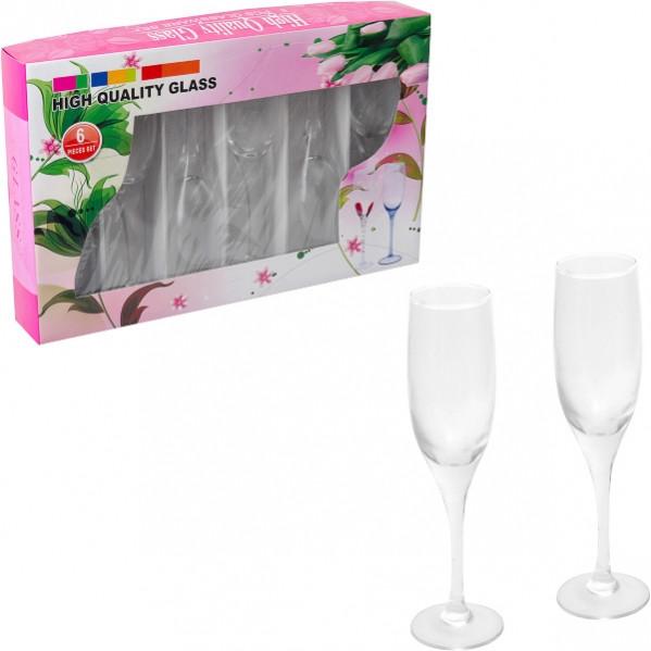 Бокал для шампанского стекло 6 шт 170 мл                           2307