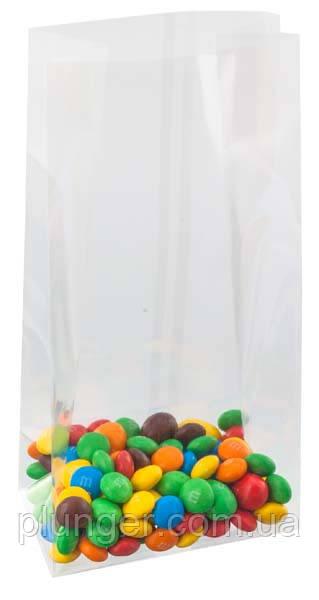 Упаковка поліетиленова прозора з широким дном, під маленьку паску, 10*20см (ціна за 1 шт)