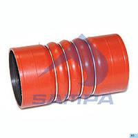 Патрубок турбокомпресора MAN 100х190 красная  021.021 (SAMPA)