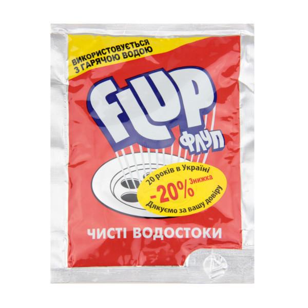 Средство для прочистки сливных труб Flup красный 80 г