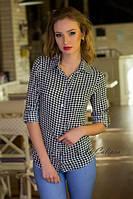 Рубашка в расцветке гусиная лапка 3007, фото 1