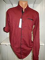 Рубашка мужская CROM мелкий узор, Полу-батал, стрейч, 3 заклепки 006 /купить только оптом