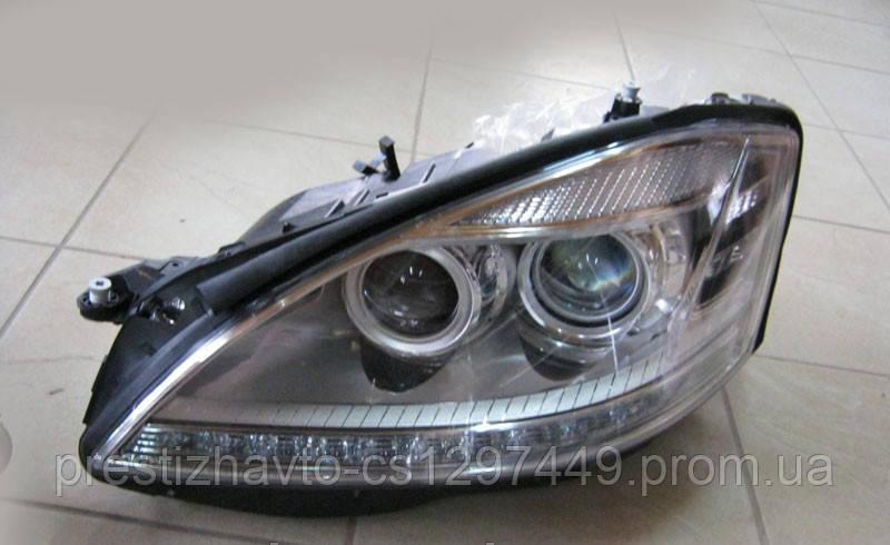 Передние фары на Mercedes S-Сlass W221 DEPO