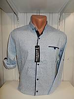 Рубашка мужская SENATOT длинный рукав, мелкий узор, стрейч 001 \ купить рубашку