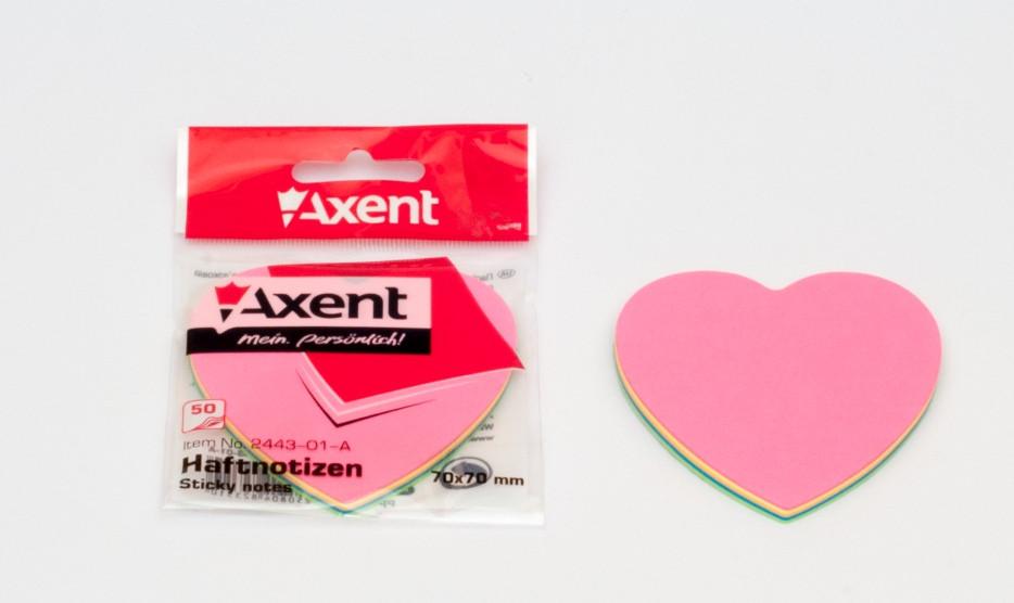 "Папір з клейкою смужкою ""Сердечко"" Axent"